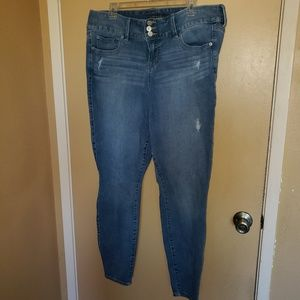 Torrid size 18XT distressed 3 button jeggings